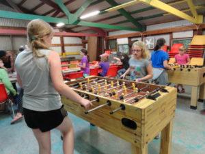 camp girls foozball and rec
